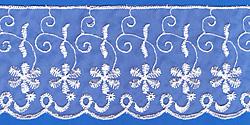 Кружево (органза): Белая; Артикул: 03001; Цена: 18руб.60коп.; Наличие:  НЕТ;