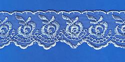 Кружево (органза): Голубая; Артикул: 048; Цена: 11руб.90коп.; Наличие:  ЕСТЬ;