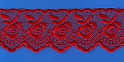 Кружево (органза): Красная; Артикул: 048; Цена: 11руб.90коп.; Наличие:  НЕТ;