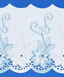 Кружево (шитьё): Бело-голубое; Артикул: 150; Цена: 38руб.00коп.; Наличие:  ЕСТЬ;