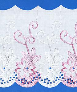 Кружево (шитьё): Бело-розовое; Артикул: 150; Цена: 38руб.00коп.; Наличие:  ЕСТЬ;