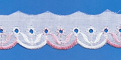 Кружево (шитьё): Бело-розовое; Артикул: 1067; Цена: 7руб.50коп.; Наличие:  ЕСТЬ;