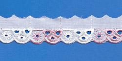 Кружево (шитьё): Бело-розовое; Артикул: 604; Цена: 7руб.50коп.; Наличие:  ЕСТЬ;