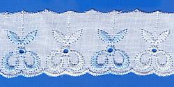 Кружево (шитьё): Бело-голубое; Артикул: 4004; Цена: 8руб.00коп.; Наличие:  НЕТ;