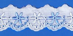 Кружево (шитьё): Бело-голубое; Артикул: 712; Цена: 8руб.00коп.; Наличие:  НЕТ;