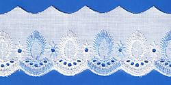Кружево (шитьё): Бело-голубое; Артикул: 612; Цена: 9руб.50коп.; Наличие:  ЕСТЬ;