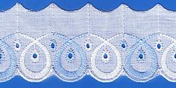 Кружево (шитьё): Бело-голубое; Артикул: 616; Цена: 9руб.80коп.; Наличие:  ЕСТЬ;