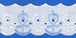Кружево (шитьё): Бело-голубое; Артикул: 617; Цена: 9руб.50коп.; Наличие:  НЕТ;