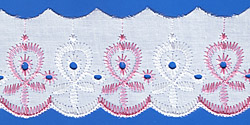 Кружево (шитьё): Бело-розовое; Артикул: 617; Цена: 9руб.50коп.; Наличие:  НЕТ;